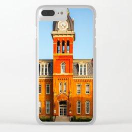 WVU Woodburn Circle Clear iPhone Case