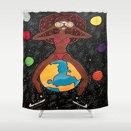 Space Safari Shower Curtain