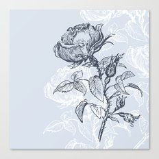 Graphic drawing roses Canvas Print