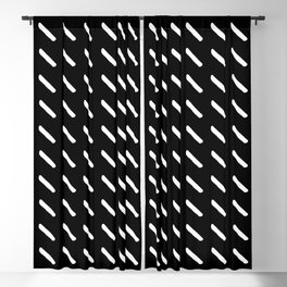 four lines 61 Black and white Blackout Curtain