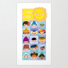 happy 50th small world! Art Print