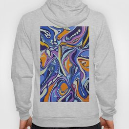Realms of blues and orange Hoody