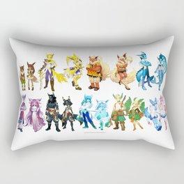 Eeveelutuions Complete Artwork Rectangular Pillow