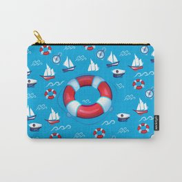 Sea Retro Pattern Carry-All Pouch