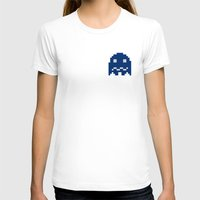 pac man T-shirts featuring Pac-Man Blue Ghost by Psocy Shop