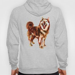 Husky Dog Watercolor Painting Hoody
