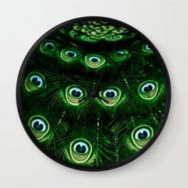 Peacock Feathers (Eyes) Wall Clock