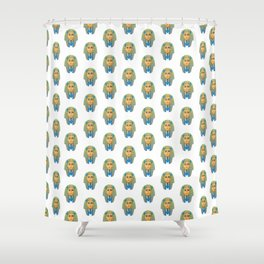 Egyptian Golden Pharaoh Burial Mask Shower Curtain