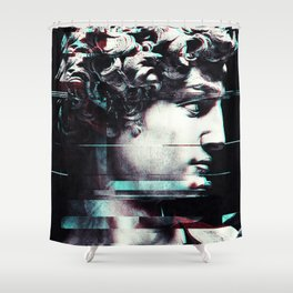 Abstract fractions of David Shower Curtain