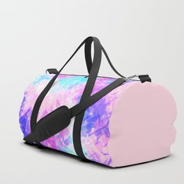 Girly Artsy Purple Pink Abstract Paint Pattern Duffle Bag