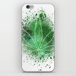 Pot Leaf Space Dust iPhone Skin