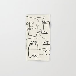 Abstract line art 12 Hand & Bath Towel