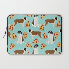 Saint Bernard pizza slices funny cute dog gifts for dog lover unique dog breeds Laptop Sleeve