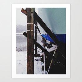 Afternoon Snow Flurries Art Print