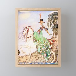 Kay Nielsen - Princess Mignon Minette Who Goes Out In Search Of Prince Soushi On A White Horse Framed Mini Art Print