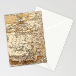 Vintage Map of Tibet (1906) Stationery Cards