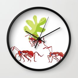 Red ants Wall Clock