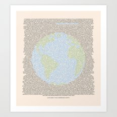 Environmental Consciousness Art Print