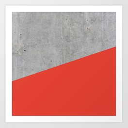 Concrete and Cherry Tomato Color Art Print