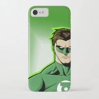 green lantern iPhone & iPod Cases featuring Green Lantern by J. J.