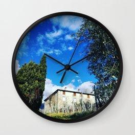 Just An Ordinary Sunny Day In Tuscany Wall Clock