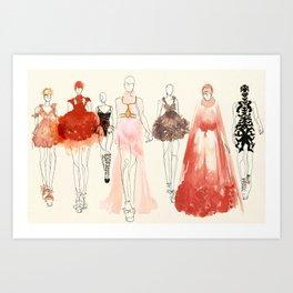 Alexander McQueen Fashion Illustrations 2013 Art Print