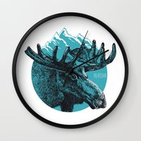 alaska Wall Clocks featuring Alaska by Krikoui