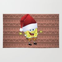spongebob Area & Throw Rugs featuring Spongebob Celebration by ShineShop