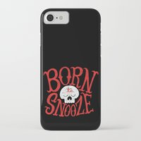 onesie iPhone & iPod Cases featuring Born to Snooze by Chris Piascik