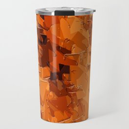 brown and dark brown painting abstract background Travel Mug