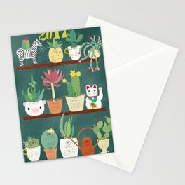 Cactus and Succulent Calendar 217 Stationery Cards
