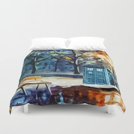 TARDIS STARRY NIGHT Duvet Cover