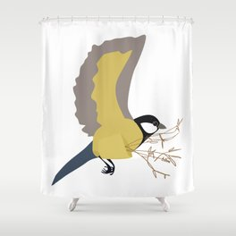 Bæremeis (Great tit carrier ?  :)   ) Shower Curtain