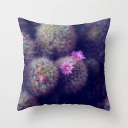 Little Cactus Flowers Throw Pillow