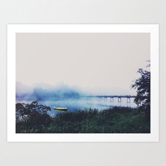 Fog Over the River Shannon Art Print