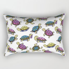 Colorful small turtles Rectangular Pillow