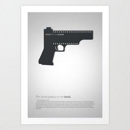 Shoot film not people Art Print