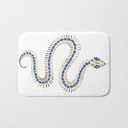 Snake Skeleton – Navy & Gold Palette Bath Mat