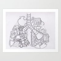 Electro-Lung Art Print