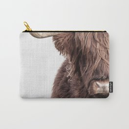 Highland Cow Portrait Carry-All Pouch