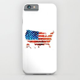 Map of The United States Of America 23 - Sharon Cummings iPhone Case