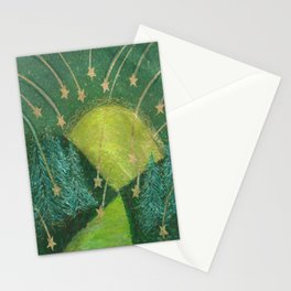 The Moon and Shooting Stars note cards and iPhone skins. Stationery Cards