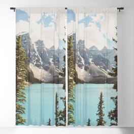 Moraine Lake II Banff National Park Blackout Curtain