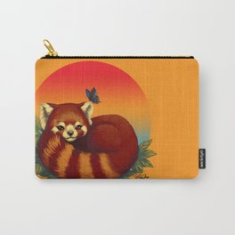 Red Panda Has Blue Butterfly Friend Carry-All Pouch