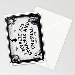 I Myself, Am Strange and Unusual Stationery Cards