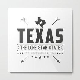 Texas State Badge Metal Print