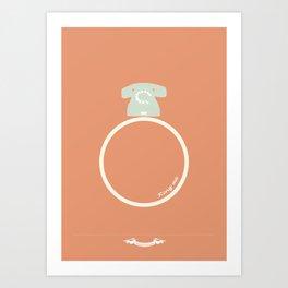 Ring me. Art Print