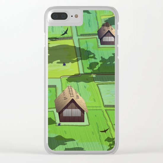 Rice paddy field Clear iPhone Case