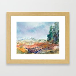 High Mountain Wetlands: Autumn in the Hunter Creek Valley, Aspen, CO Framed Art Print
