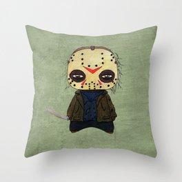 A Boy - Jason ( Friday the 13th) Throw Pillow